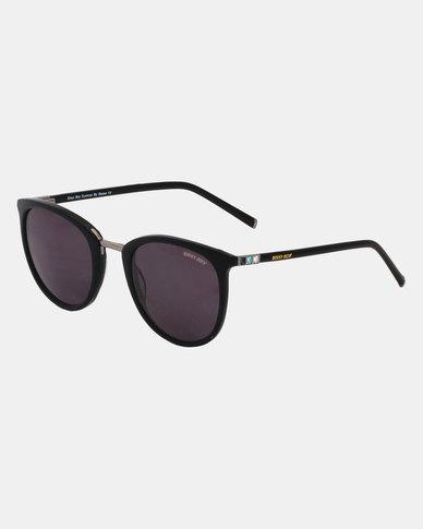 Sissy Boy Oval Frame Sunglasses Black