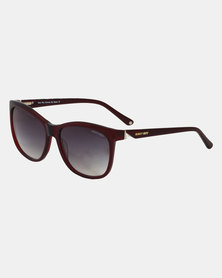 Sissy Boy Square Frame Sunglasses Burgundy
