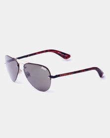 Superdry Round Frame Sunglasses Gold & Tortoise