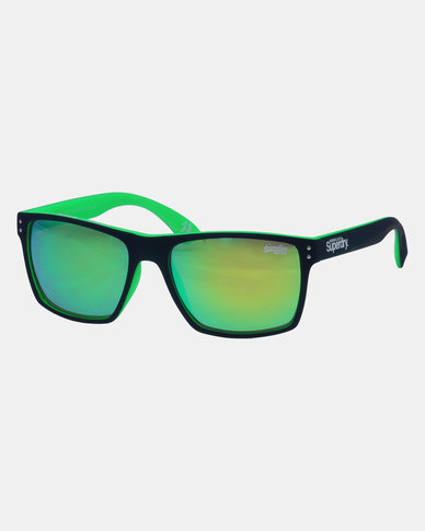 Superdry Retangular Frame Sunglasses Green