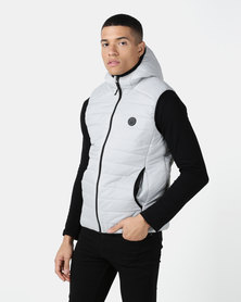 D-Struct Hooded Quilted Gilet Steel Grey