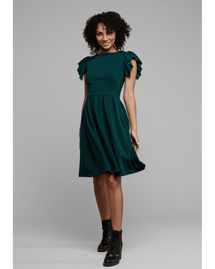 MARETHCOLLEEN Tam Skater Dress Emerald