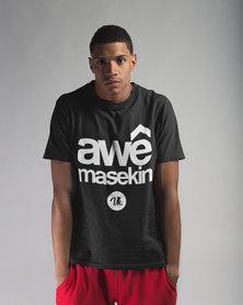 Vannie Kaap Awê Masekin Black T-shirt