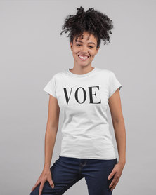 Vannie Kaap VOE Ladies White T-shirt