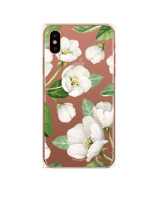 Hey Casey! Phone Case Cover for iPhone X/XS -  Winter Blossoms design