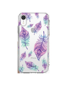 Hey Casey! Phone Case Cover for iPhone XR -  Rainbow Feathers design