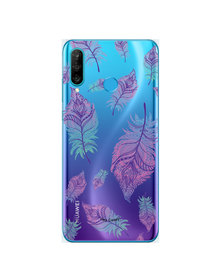 Hey Casey! Phone Case Cover for Huawei P30 Lite - Rainbow Feathers design