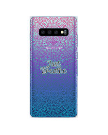 Hey Casey! Phone Case Cover for Samsung S10 Plus - Just Breathe design