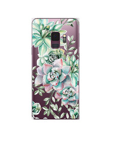 Hey Casey! Phone Case Cover for Samsung S9 - Succulents design