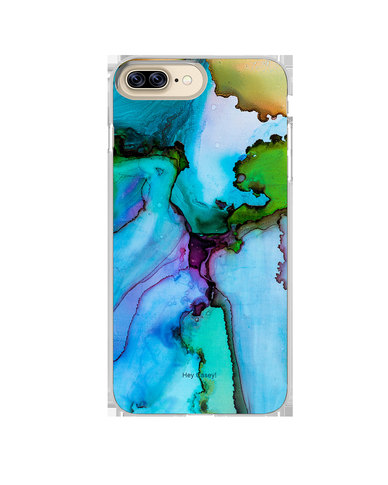 Hey Casey! Phone Case Cover for iPhone 7/8 Plus - Blue Ink design