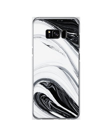 Hey Casey! Phone Case Cover for Samsung S8 Plus - Black Swirl design