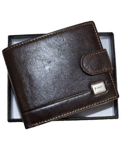 be9c1eb861dd Fino Genuine Leather Bifold Wallet with Gift Box - D.brown | Zando