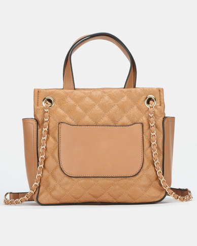 BELLINI Quilted Bag Camel