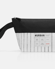 Reisenthel high-quality, laminated polypropylene and high-quality polyester #urban case tokyo black and white