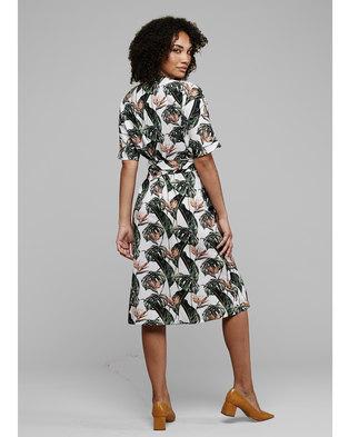 MARETHCOLLEEN Bea Wrap Dress Strelitzia