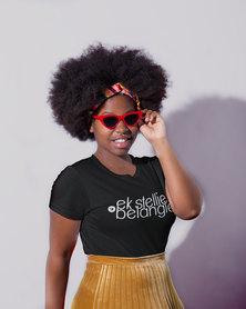 Vannie Kaap Ek Stellie Belangie Ladies Black T-shirt