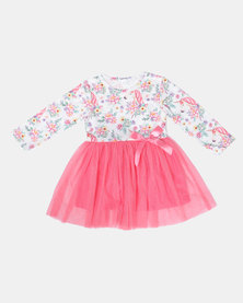 Bugsy Boo Unicorn Tulle Dress Multi