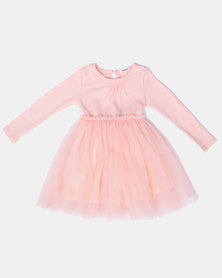 Bugsy Boo Tulle Dusty Dress Pink