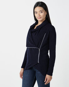 Nucleus Waiting Room Cardigan in Navy