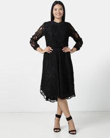 Nucleus Feminist Lace Dress Black