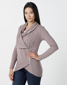 Nucleus Waiting Room Cardigan in Taupe