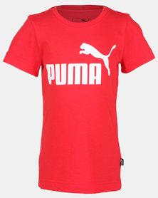 Puma ESS Logo Tee Red