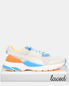 Puma Sportstyle Core Future Runner Premium Sneakers Gray Violet-Indigo Bunting-Orange Pop