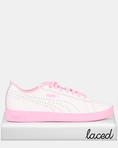 Puma Sportstyle Core Puma Smash Wns v2 Sneakers L Perf Puma White/Pale Pink