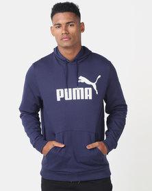 Puma Sportstyle Core ESS Hoodie FL Big Logo Navy