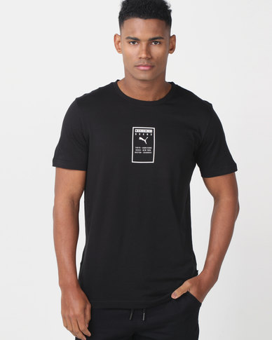 Puma Sportstyle Core Brand Placed Tee Black