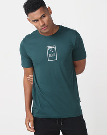 Puma Sportstyle Core Brand Placed Tee Ocean