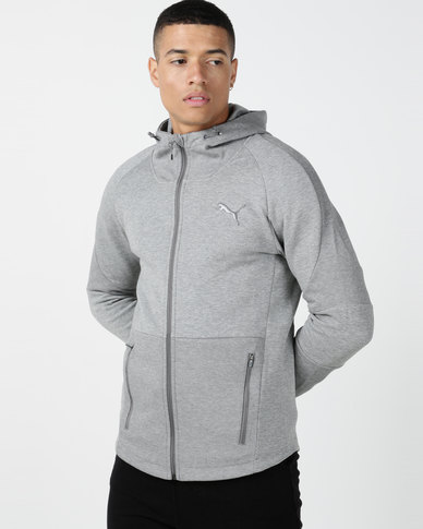 Puma Sportstyle Core Evostripe Move Hooded Jacket Grey
