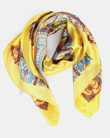 Joy Collectables Sliky Paisley Scarf Yellow