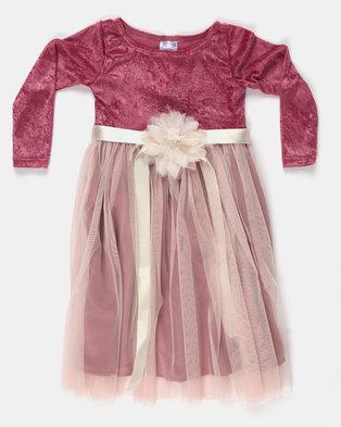 c4fda1d22eb9a Fairyshop LS Satin & Soft Tulle Dress Pink. Quick View. Fairy Shop