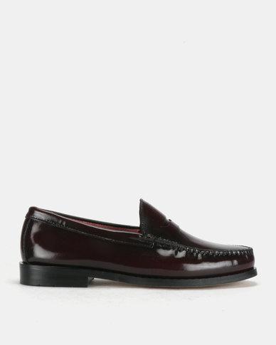Watson Elite Hi Shine Formal Slip On Shoes Oxblood