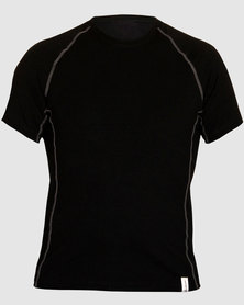 Vivolicious Organic Hemp Men's Base Layer T Black