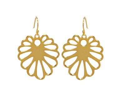 The Jeweller's Florist Aloe earrings - Yellow gold