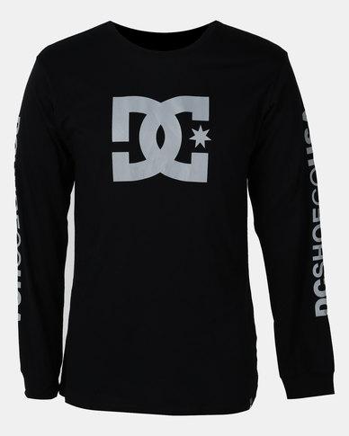 4f386614e4 DC Star Long Sleeve T-shirt Black | Zando