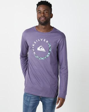 Quiksilver Slab Session Long Sleeve T-shirt Purple