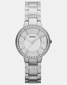 Fossil Virginia Stainless Steel Watch Silver