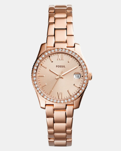 Fossil Scarlet Stainless Steel Watch Rose Gold