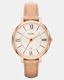 Fossil Jacqueline Leather Watch Sand