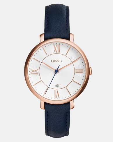 Fossil Jacqueline Leather Watch Navy