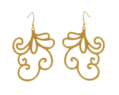 The Jeweller's Florist Sweet Pea Earrings - Yellow Gold