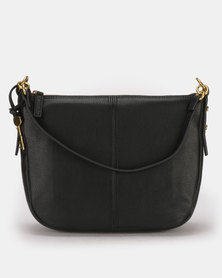 Fossil Jolie Leather Crossbody Bag Black