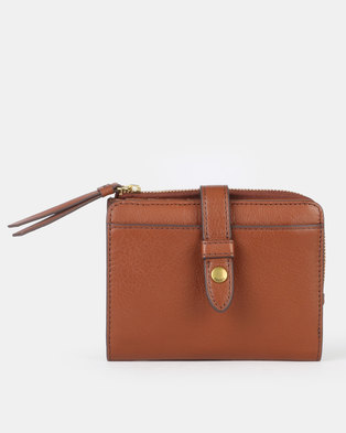 Fossil Fiona Leather Multifunction Wallet Brown