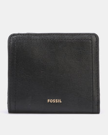 Fossil Logan Leather Small Bifold Wallet Black