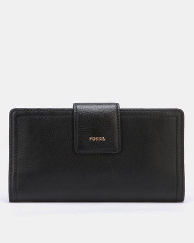 Fossil Logan Leather Bifold Wallet Black