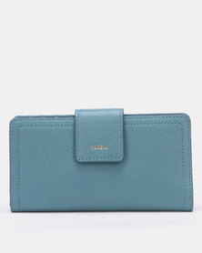 Fossil Logan Leather Bifold Wallet Blue