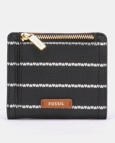 Fossil Logan Pu Small Bifold Wallet Black